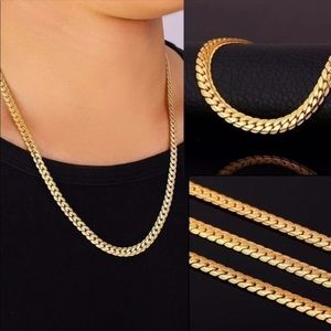 Jewelry - His/Her's 18k Gold Plated Snake Chain Necklace
